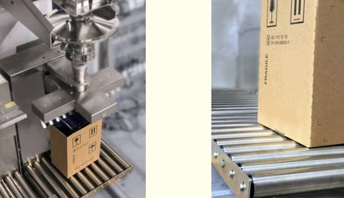 Controle du poids de cartons avec convoyeur à rouleaux de pesage - Convoyeurs de pesage à rouleaux