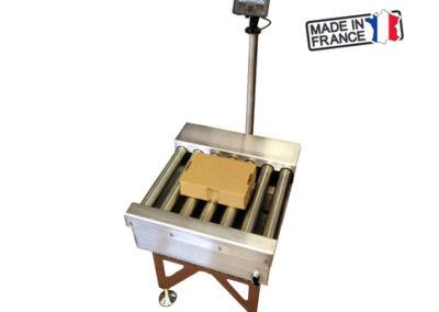 Tapis de pesage avec rouleaux entrainés 400x284 - Convoyeurs de pesage à rouleaux