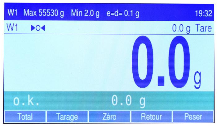 Balance Fine Spect écran 1 - Balances industrielles