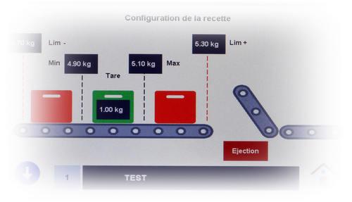 Tapis de pesage et de controle du poids - Tapis de pesage