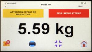 Interface de controle et de commande dun convoyeur de pesage 300x171 - Nouvel écran avec fonction de tri pour convoyeurs de pesage