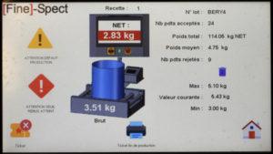 Supervision de tapis de pesage 300x169 - Nouvel écran avec fonction de tri pour convoyeurs de pesage