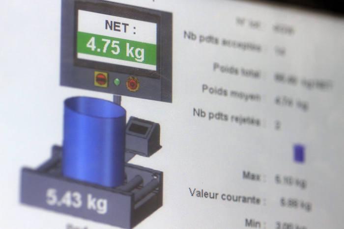 controle des convoyeurs de pesage - Convoyeurs de pesage à rouleaux