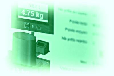Écrans de contrôle pour convoyeurs de pesage
