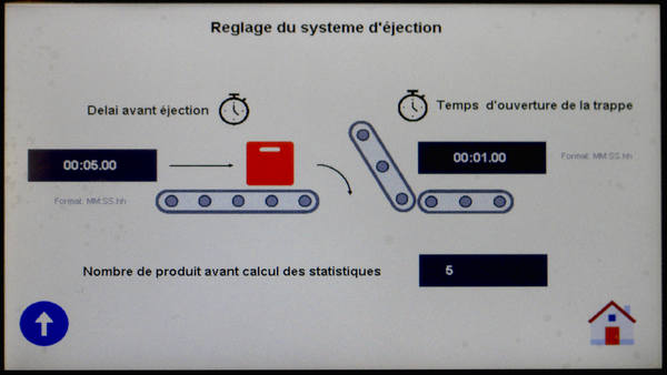 """controle du tapis peseur - Écran  """"Process"""""""