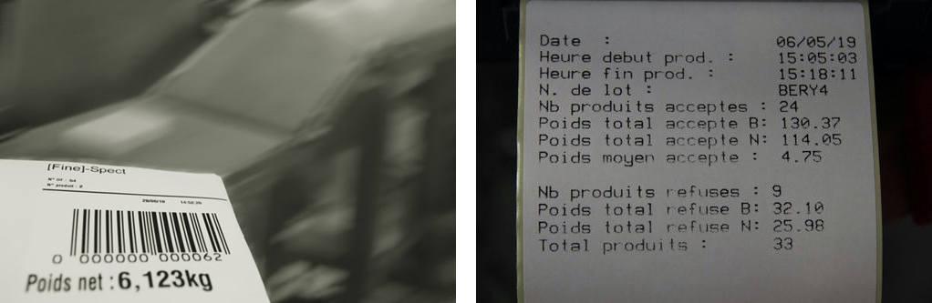 """edition detiquettes de colis Fine Spect - Écran  """"Process"""""""
