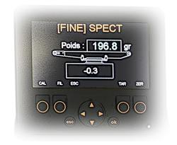 Ecran indicateur de tapis de pesage 1 - Convoyeurs de pesage à rouleaux