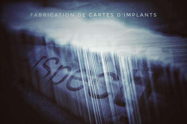 Marquage de cartes dimplants - Fabrication de cartes d'implants réglementaires